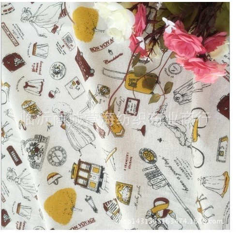 Vải bố họa tiết thời trang khổ 50cm x 1m