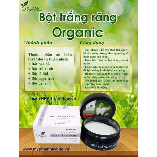 Làm trắng răng nhanh chóng Organic