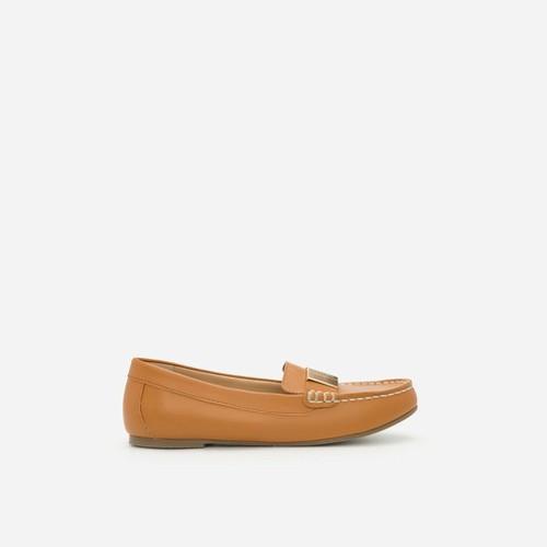 Vascara - Giày Lười Phối Khóa Cài - MOI 0094 - Màu Nâu Sáng-L10.4