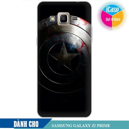 Ốp lưng nhựa cứng nhám dành cho Samsung Galaxy J2 Prime in Hình Captian America