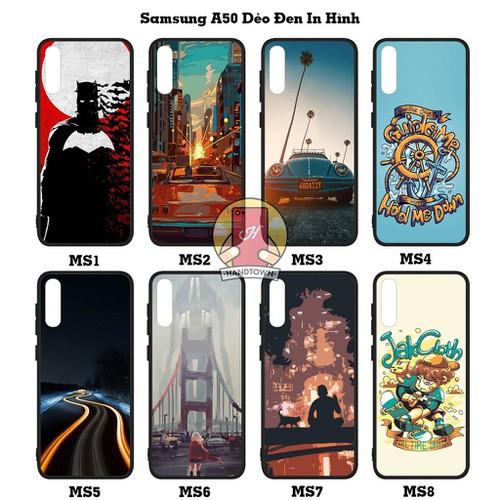 Ốp Dẻo Đen In Hình Samsung Galaxy A50