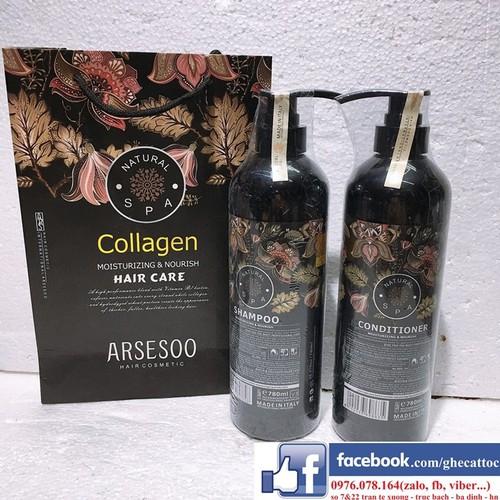 Bộ Gội Xả Collagen Arsesoo Hương Nước Hoa Cao Cấp