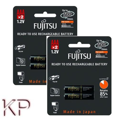 4 Pin sạc AAA 900mAh Fujitsu HR-4UTHCEX 2B RECHARGEABLE BATTERY