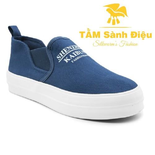 SHIP_BH_ĐỔI TRẢ Giày lười nữ TSD S0019B đế thấp màu xanh 8994