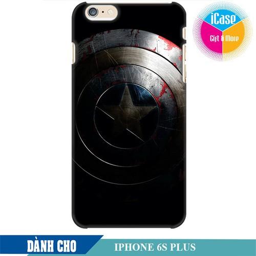 Ốp lưng nhựa cứng nhám dành cho iPhone 6S Plus in Hình Captian America