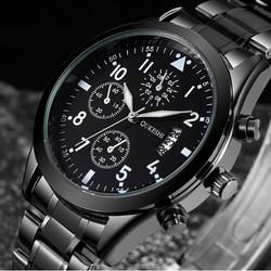 Đồng hồ kim nam sang trọng màu đen OU-250D