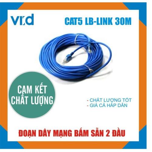 Đoạn dây cáp mạng LB-LINK Cat5e 30m Xanh-Trắng - Chính hãng - 11494821 , 17353563 , 15_17353563 , 135000 , Doan-day-cap-mang-LB-LINK-Cat5e-30m-Xanh-Trang-Chinh-hang-15_17353563 , sendo.vn , Đoạn dây cáp mạng LB-LINK Cat5e 30m Xanh-Trắng - Chính hãng