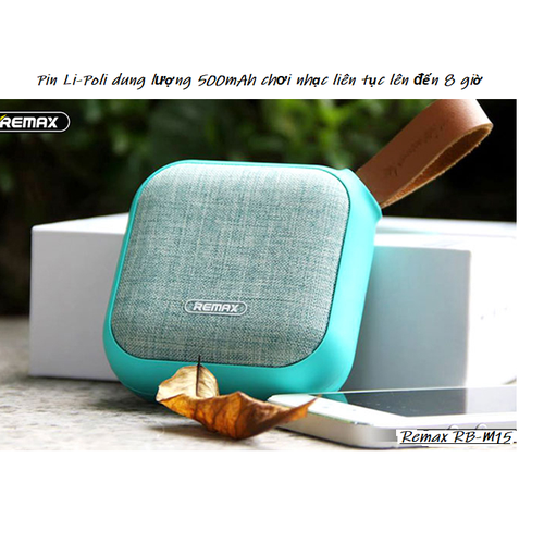 Loa Bluetooth Remax RB-M15 chống nước chuẩn IP5X