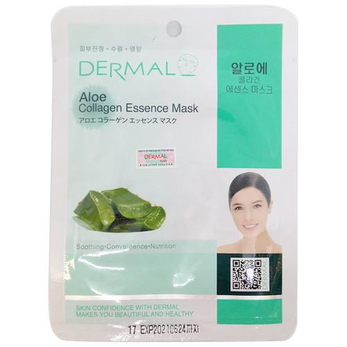 Mặt nạ Dermal tinh chất collagen chiết xuất từ Nha đam, ngọc trai và trà xanh túi 10 miếng HQ