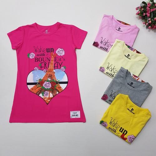 9369-M1- Váy bé gái, cotton,cộc tay,in hoa hồng,hiệu tân đức kids,size nhỡ 7-12,ri6