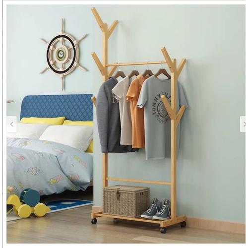 Kệ treo quần áo gỗ có bánh xe - 4675246 , 17382629 , 15_17382629 , 420000 , Ke-treo-quan-ao-go-co-banh-xe-15_17382629 , sendo.vn , Kệ treo quần áo gỗ có bánh xe