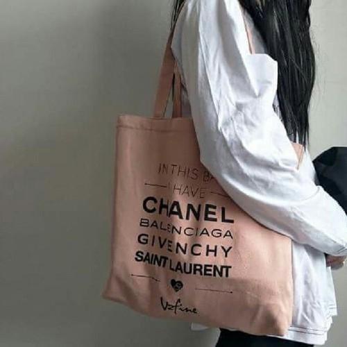 Túi tote hồng đeo vai