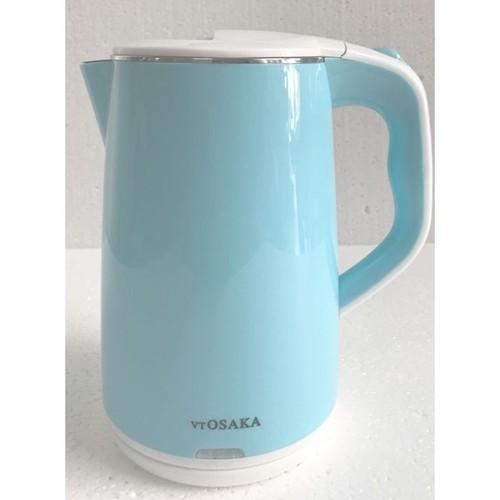 Bình đun nước 2.5L Osaka với lớp trong bằng inox 304 không gỉ, lớp ngoài bằng nhựa cách nhiệt chế độ tự tắt