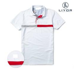 Áo thun nam [CHO XEM HÀNG] áo phông có cổ cao cấp thiết kế sọc ngang - Liyorstyle - ATcs005