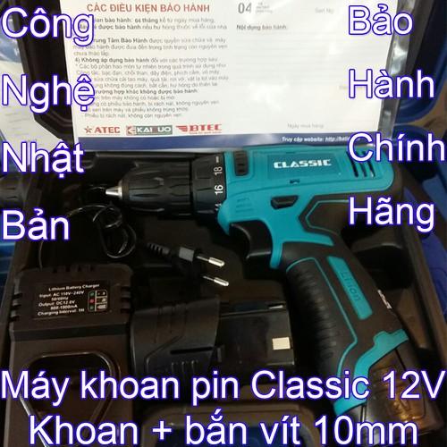 Máy khoan pin bắt vít mini cầm tay đa năng Classic 12V - Khoan dùng bin không dây bắn vặn mở vít gia đình - 11501848 , 17374505 , 15_17374505 , 790000 , May-khoan-pin-bat-vit-mini-cam-tay-da-nang-Classic-12V-Khoan-dung-bin-khong-day-ban-van-mo-vit-gia-dinh-15_17374505 , sendo.vn , Máy khoan pin bắt vít mini cầm tay đa năng Classic 12V - Khoan dùng bin khôn