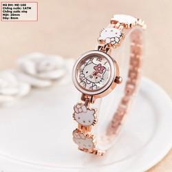 Đồng hồ nữ mặt Hello Kitty đính đá ME-160