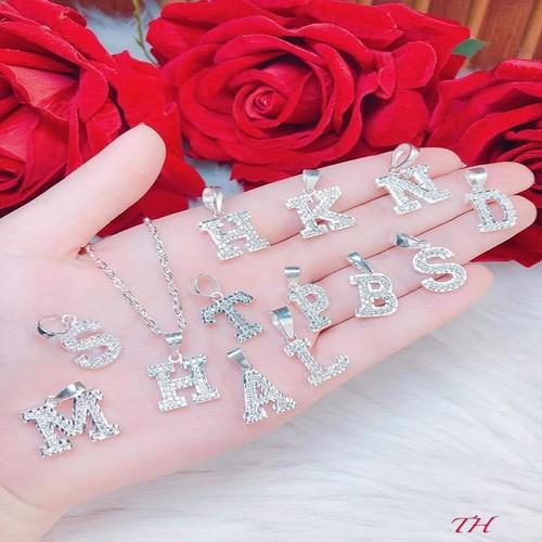 Quà tặng sinh nhật nữ Dây chuyền bạc nữ mặt chữ cái tên của các bạn - 11503407 , 17379494 , 15_17379494 , 259000 , Qua-tang-sinh-nhat-nu-Day-chuyen-bac-nu-mat-chu-cai-ten-cua-cac-ban-15_17379494 , sendo.vn , Quà tặng sinh nhật nữ Dây chuyền bạc nữ mặt chữ cái tên của các bạn