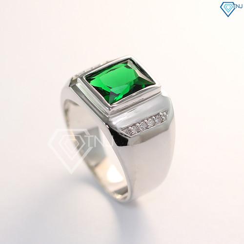 Nhẫn bạc nam đẹp giá rẻ, nhẫn bạc nam mặt đá, nhẫn bạc nam phong thủy, nhẫn bạc nam hột xanh NNA0047 - Trang Sức TNJ - 4864695 , 17381830 , 15_17381830 , 450000 , Nhan-bac-nam-dep-gia-re-nhan-bac-nam-mat-da-nhan-bac-nam-phong-thuy-nhan-bac-nam-hot-xanh-NNA0047-Trang-Suc-TNJ-15_17381830 , sendo.vn , Nhẫn bạc nam đẹp giá rẻ, nhẫn bạc nam mặt đá, nhẫn bạc nam phong thủy