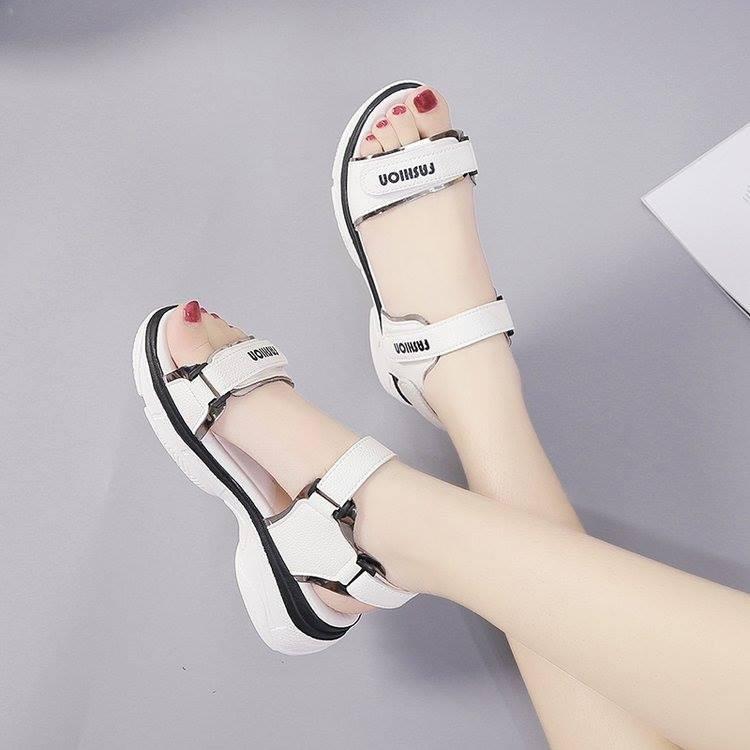 Giày sandal bánh mì quai dán ánh kim |Giày sandal bánh mì nữ 6