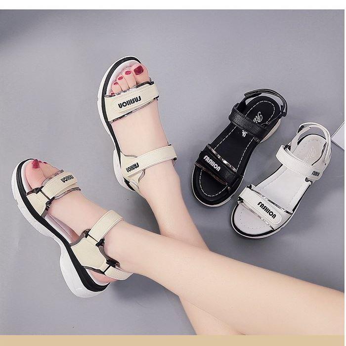 Giày sandal bánh mì quai dán ánh kim |Giày sandal bánh mì nữ 4