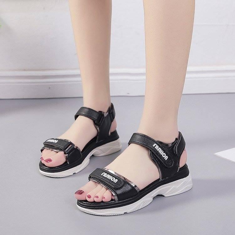 Giày sandal bánh mì quai dán ánh kim |Giày sandal bánh mì nữ 5