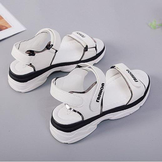 Giày sandal bánh mì quai dán ánh kim |Giày sandal bánh mì nữ 3