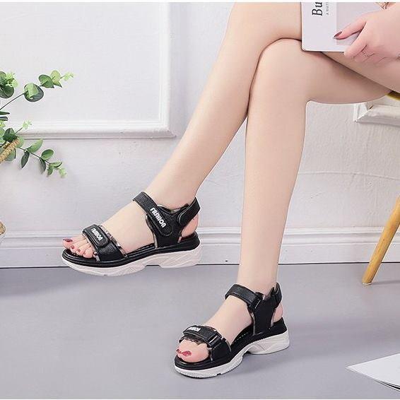 Giày sandal bánh mì quai dán ánh kim |Giày sandal bánh mì nữ 2