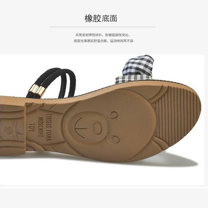 Giày sandal nơ caro đế gấu  Giày sandal thời trang nữ 2
