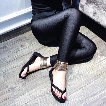 Giày sandal quai kẹp dây ánh kim |Giày sandal nữ