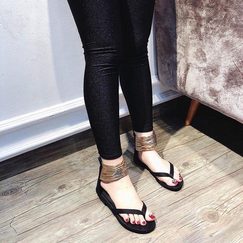 Giày sandal quai kẹp dây ánh kim |Giày sandal nữ 2