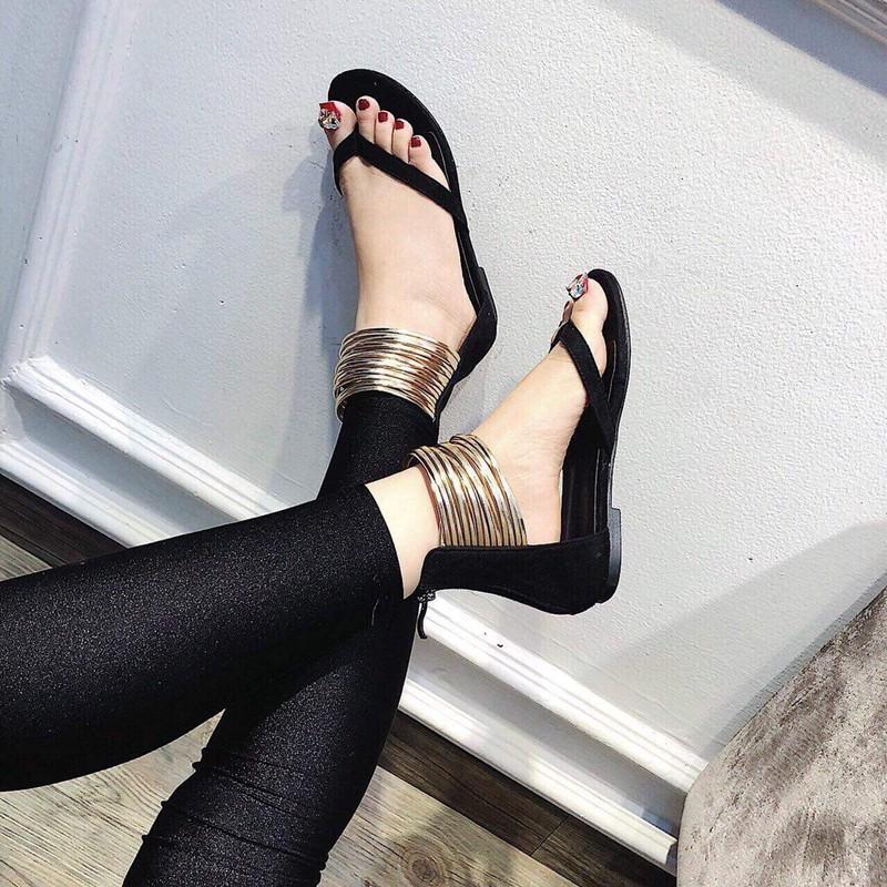 Giày sandal quai kẹp dây ánh kim |Giày sandal nữ 3