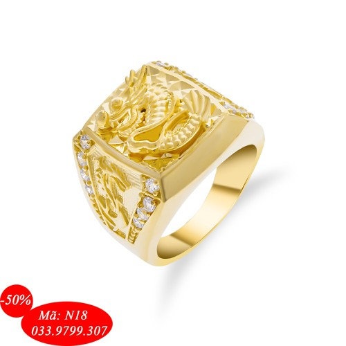 Nhẫn nam rồng vàng mạ 18k