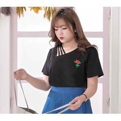 áo thun big size màu đen phối dây size 65-70kg