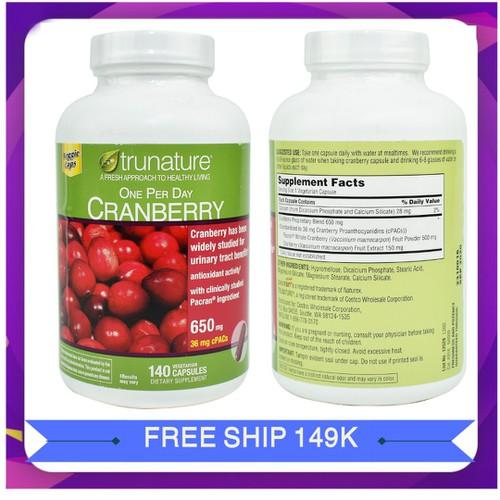 Viên uống trunature cranberry hỗ trợ đường tiết niệu|vien uong trunate cranberry xuất xứ Mỹ 140 viên - 11503619 , 17379795 , 15_17379795 , 720000 , Vien-uong-trunature-cranberry-ho-tro-duong-tiet-nieuvien-uong-trunate-cranberry-xuat-xu-My-140-vien-15_17379795 , sendo.vn , Viên uống trunature cranberry hỗ trợ đường tiết niệu|vien uong trunate cranberry