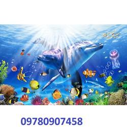 tranh gạch 3d đáy đại dương