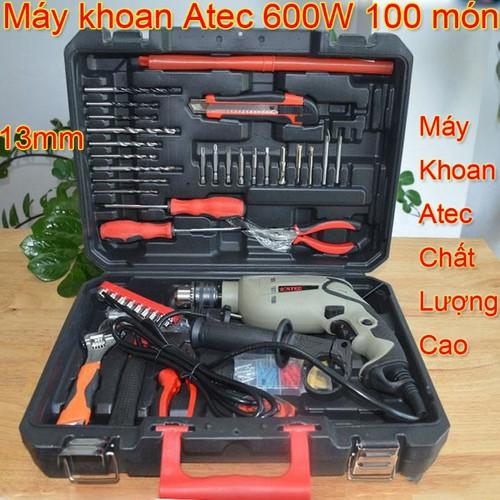 Bộ 100 món máy khoan điện mini cầm tay đa năng Atec AT7218 600W - Khoan tường, gỗ, nhôm, sắt gia đình - 4862575 , 17378696 , 15_17378696 , 980000 , Bo-100-mon-may-khoan-dien-mini-cam-tay-da-nang-Atec-AT7218-600W-Khoan-tuong-go-nhom-sat-gia-dinh-15_17378696 , sendo.vn , Bộ 100 món máy khoan điện mini cầm tay đa năng Atec AT7218 600W - Khoan tường, gỗ, n