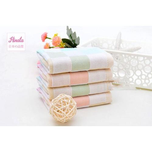 Combo 5 khăn gạc cotton Nhật Bản - Thương hiệu Hinata KG01