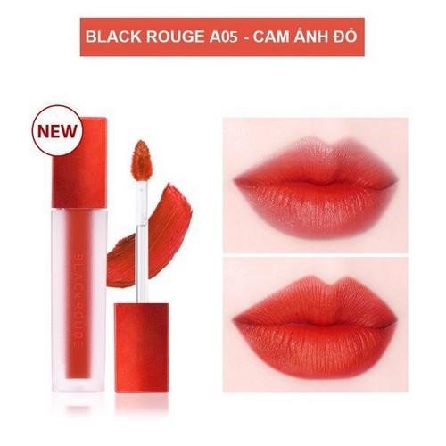 Son Kem Lì Black Rouge Air Fit Velvet Tint – Hàn Quốc A05 cam ánh đỏ
