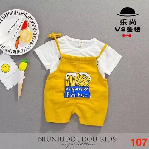 Quần áo yếm chất cotton cho bé từ 5 đến 19kg - Mẫu 107