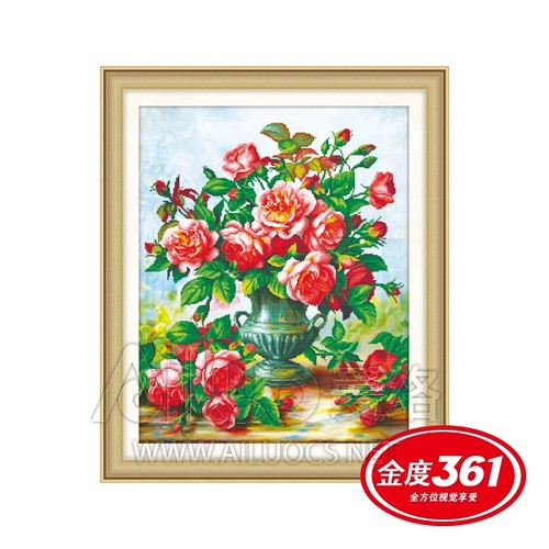 Tranh thêu chữ thập bình hoa hồng 3D tuyệt đẹp - 7549683 , 17407822 , 15_17407822 , 125000 , Tranh-theu-chu-thap-binh-hoa-hong-3D-tuyet-dep-15_17407822 , sendo.vn , Tranh thêu chữ thập bình hoa hồng 3D tuyệt đẹp