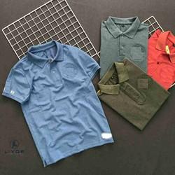 Áo thun nam [KIỂM HÀNG TRƯỚC] áo phông nam có cổ tay ngắn thiết kế logo dập nổi chất liệu cá sấu dập nổi cao cấp