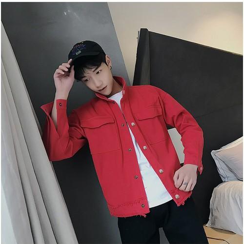 Áo khoác Jacket Kaki Sweet Red
