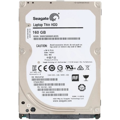 Ổ cứng gắn trong dành cho Laptop HDD Seagate 160GB SATA 6Gbs - 11512673 , 17404839 , 15_17404839 , 656500 , O-cung-gan-trong-danh-cho-Laptop-HDD-Seagate-160GB-SATA-6Gbs-15_17404839 , sendo.vn , Ổ cứng gắn trong dành cho Laptop HDD Seagate 160GB SATA 6Gbs