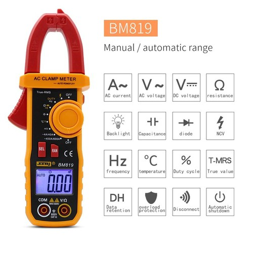 Đồng hồ kẹp dòng vạn năng SZBJ BM819 cao cấp