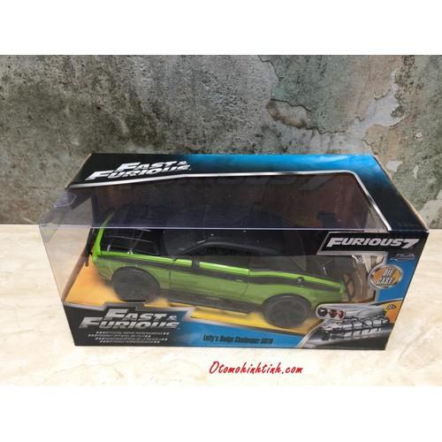 Mô hình xe ô tô Dodge Challenger SRT8  FastFurious 1:24