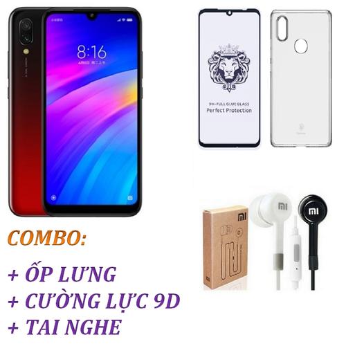 Điện thoại Xiaomi Redmi 7 32GB Ram 3GB  Đỏ + Ốp lưng + Cường lực 9D Full màn hình + Tai nghe - Hàng nhập khẩu - 11509272 , 17395585 , 15_17395585 , 2425000 , Dien-thoai-Xiaomi-Redmi-7-32GB-Ram-3GB-Do-Op-lung-Cuong-luc-9D-Full-man-hinh-Tai-nghe-Hang-nhap-khau-15_17395585 , sendo.vn , Điện thoại Xiaomi Redmi 7 32GB Ram 3GB  Đỏ + Ốp lưng + Cường lực 9D Full màn h