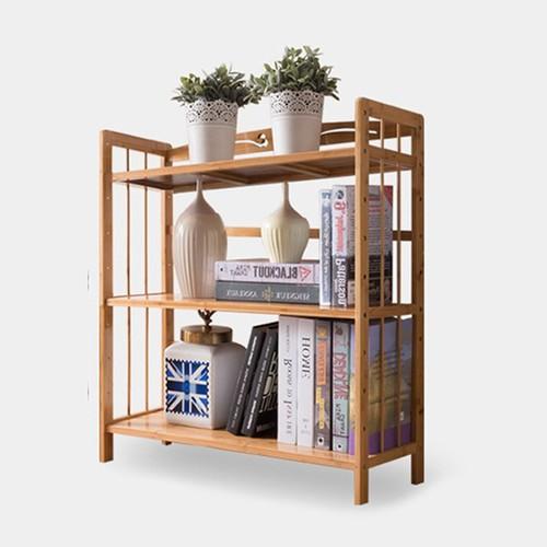 Giá để sách- kệ để sách - Kệ sách bằng tre- Giá để sách 3 tầng- Kệ trang trí 3 tầng đa năng- giá trang trí đa năng-Kệ sách trang trí bằng tre 3 tầng