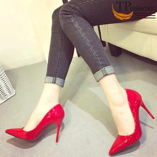 Giày cao gót nữ 12CM, da bóng màu đỏ Hàng VNXK 2019 - GN1203 - 4869749 , 17395731 , 15_17395731 , 400000 , Giay-cao-got-nu-12CM-da-bong-mau-do-Hang-VNXK-2019-GN1203-15_17395731 , sendo.vn , Giày cao gót nữ 12CM, da bóng màu đỏ Hàng VNXK 2019 - GN1203
