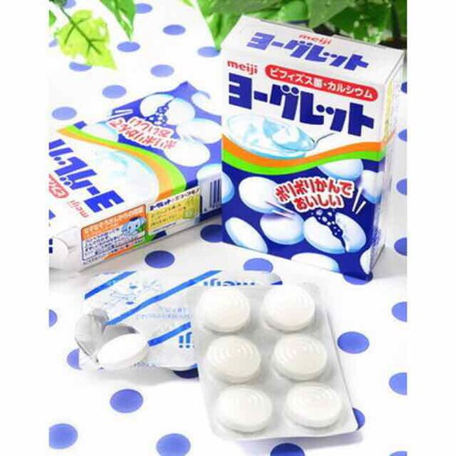Sữa chua khô Meiji  yogurt và trái cây
