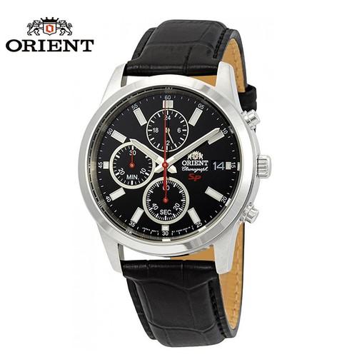 Đồng hồ nam ORIENT chính hãng  FKU00004B0 Dây da đen